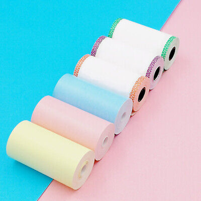 6 Rolls Color Thermal Printer Sticker Paper 57*30mm For Peripage Paperang P1/P2 • 5.92£