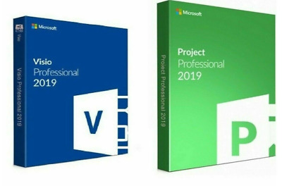 Project Professional 2019 And Visio Pro 2019 For 1 PC Genuine • 8.99£
