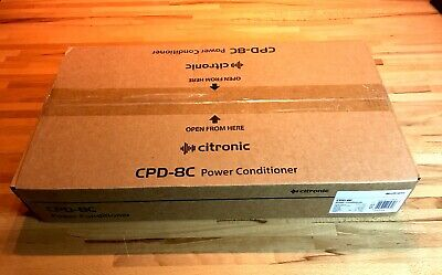 CITRONIC CPD-8C 8 Way IEC Power Conditioner • 54.95£