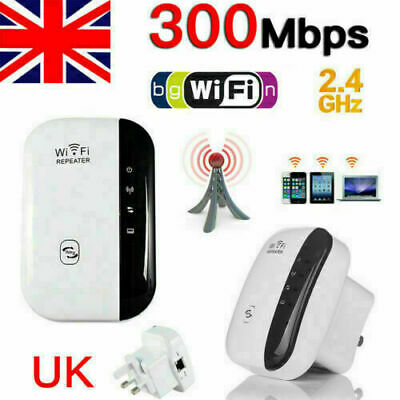 NEW WiFi Repeater Signal Range Booster Wireless Network Extender Amplifiers UK • 8.22£