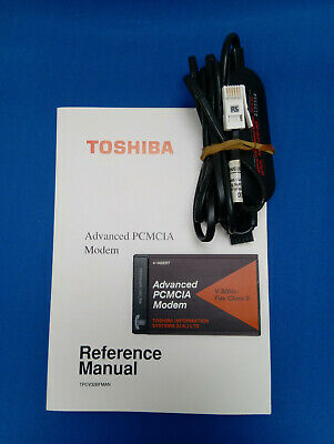 Toshiba Advanced PCMCIA Modem With BT Cable And Manual TPCV32BFPCB • 4.69£