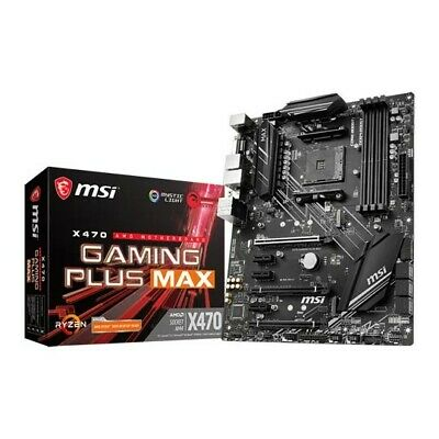 Msi X470 Gaming Plus Max AMD AM4 Motherboard- Brand New • 85£