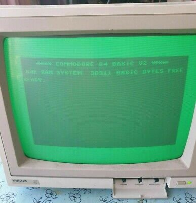 Philips BM7502/05G 12  Green Screen Computer Monitor Composite Tested Commodore • 10.50£