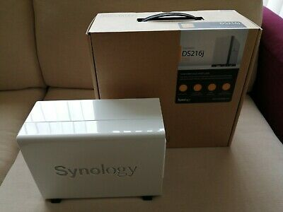Synology DS216J 2 Bay Desktop NAS + 6TB Hard Drive • 46£
