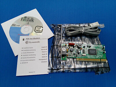 Dynamode 56K PCI FAX Modem Card CD Software And Cable Bundle • 2.39£
