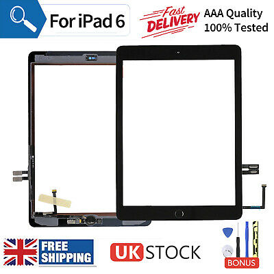 For 2018 IPad 6th Generation Digitizer Screen Replacement Black+Genuine OEM IC • 19.35£