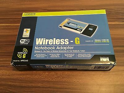 Linksys Wireless-G Notebook Adapter Model WPC54G • 9£