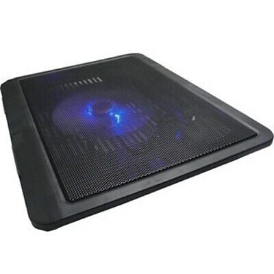 Portable LED Laptop Cooling Pad USB Fans Cool Pad Cooler Adjustable Stand • 7.89£