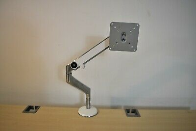 Humanscale M2 White Pivotal Monitor Arm - Alloy - Complete W/All Brackets - EXC  • 49.95£