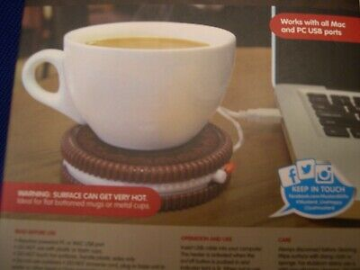 New In Box Mustard Novelty Hot Cookie Tea Or Coffee  USB Powered Cup Warmer • 7.50£