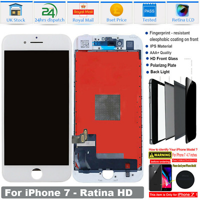 UK For IPhone 7 LCD Screen Replacement Digitizer Display 3D Touch Assembly White • 15.48£