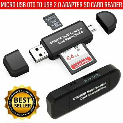 Micro USB OTG SD/TF Card Reader USB 2.0 Adapter For Android Phone Tablet PC Mac  • 2.79£