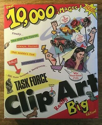 Task Force Clip Art Really Big Edition, CD Rom, Reference Manual - PC & Acorn • 9.50£