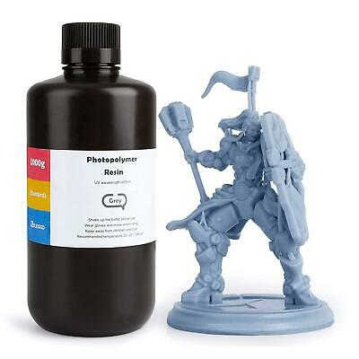 ELEGOO LCD UV 405nm Rapid 3D Resin For Printer ABS-Like Photocuring 1000g Grey • 43.10£