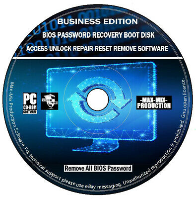 BIOS Password & Data Recovery Windows Error Repair + HDD Eraser & Cloning PC CD • 3.99£
