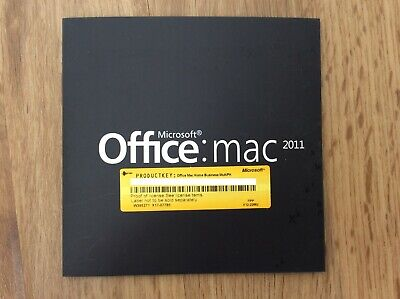 Microsoft Office Mac 2011 Home & Business DVD With Product Key - A • 24.99£