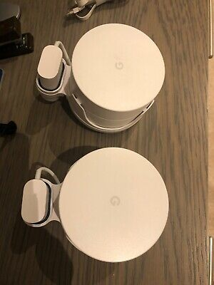 Google Wi-Fi Whole Home System Bundle With Wall Mount Holders • 33£