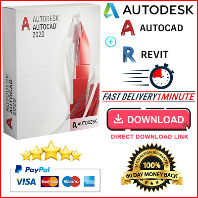 Autodesk Autocad 2020 🔥Full Version ✅ Lifetime License⚡Windows📌Fast Delivery📨 • 9.99£
