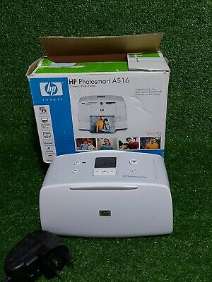 HP Photosmart A516 Compact Photo Printer Boxed With Instructions & Software VGC • 25£