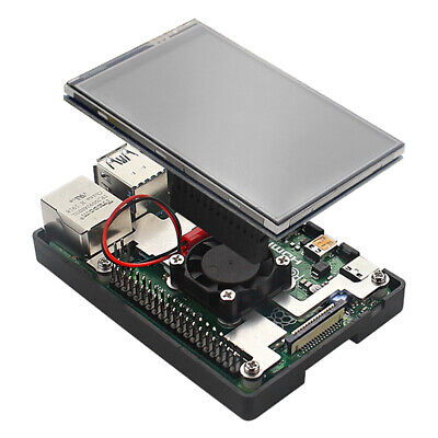 3.5 Inch TFT Touch Screen With Case Fan Radiator Kit For Raspberry Pi 4B • 21.11£