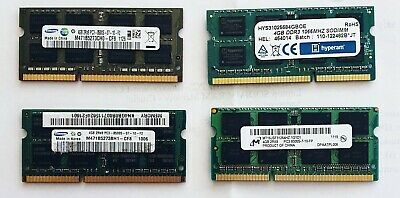 4GB DDR3 1066MHz Laptop RAM ~~ PC3-8500S SODIMM Notebook Memory 204pin 1.5v  • 17.99£