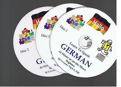 Learn To Speak GERMAN A Complete Mp3 & PDF Course Of 90+ Lessons - 3 Mp3 CDs • 3.35£