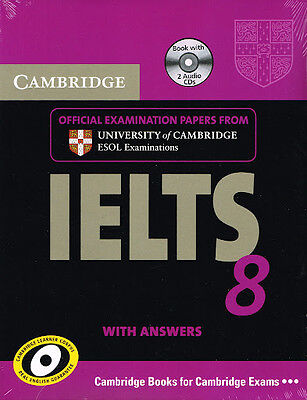 Cambridge IELTS 8 Book & CD's Set ESOL Examination Papers With Answers @NEW@ • 33.94£