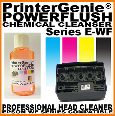 Printhead Cleaner For Epson Workforce WF2630 / 2640 / 2650 : Nozzle Unblock Kit • 6.49£