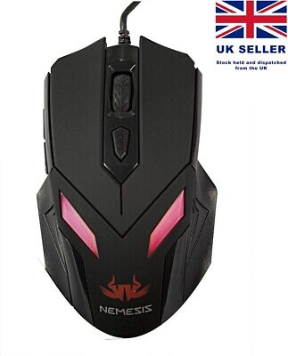 Sumvision Nemesis Zark Wired Gaming Mouse USB Colour LED Light 2400DPI Optical • 6.75£