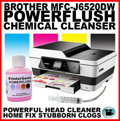 Brother MFC-J6520DW Printhead Unblocking Kit - Head Cleaner & Nozzle Cleanser • 6.49£