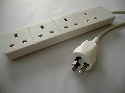 Australia / New Zealand Plug To 4 Way UK Adaptor Extension Lead / Cord • 15.50£