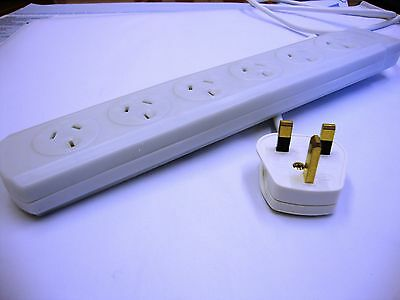 UK Plug To Australian Socket Extension Lead • 29.04£