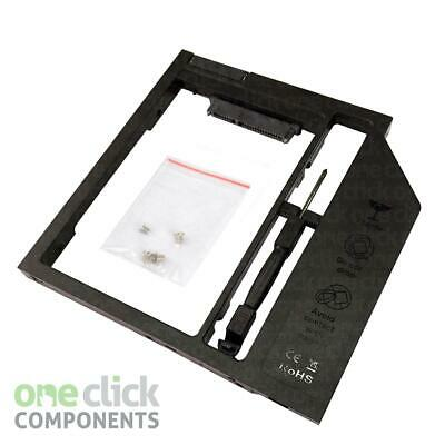 SATA To SATA 2nd HDD SSD Hard Drive 9.5mm Universal Caddy CD/DVD-ROM Optical Bay • 5.49£