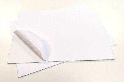 10 X A4 Waterproof VINYL White Matt Self Adhesive INKJET Printing Sticker Label • 6.74£