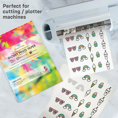 10x A4 Sticker GLOSSY Self-Adhesive Craft Paper Label Printing Silhouette Cricut • 3.99£