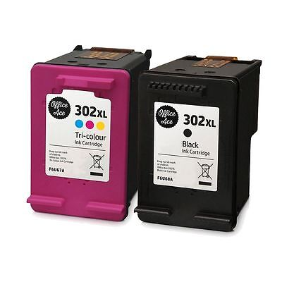 Black & Colour 302 XL Ink Cartridges - For HP Envy 4520 • 29.95£