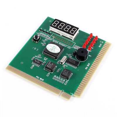 PC Motherboard Diagnostic Card 4-Digit PCI/ISA POST Code Analyzer TS • 11.67£