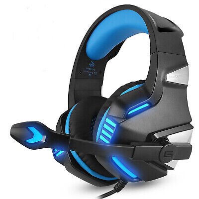 3.5mm Gaming Headset Mic LED Headphones V3B Stereo For PC Laptop PS4 Xbox One S • 17.95£