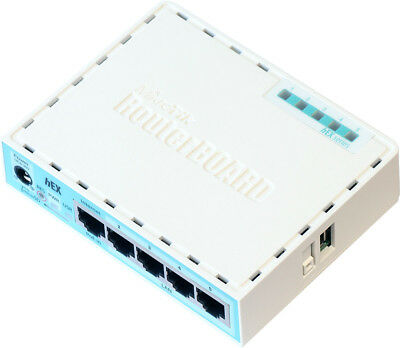 MIKROTIK HEX RB750Gr3 5-Port Gigabit Router, 256Mb RAM, 880Mhz CPU, MicroSD, USB • 49.42£