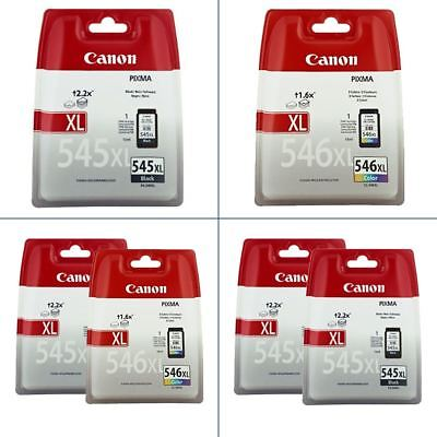 Original Canon PG-545/XL & CL-546/XL Ink Cartridges - For Canon PIXMA Printers • 30£