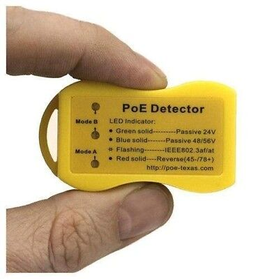 Power Over Ethernet PoE Detector / Tester - Indicates The Type Of PoE On A Cable • 9.42£