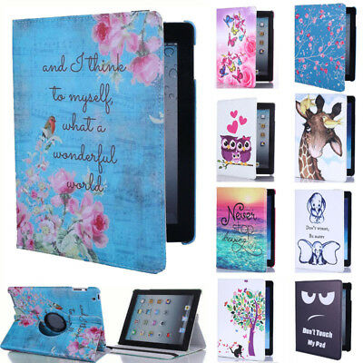 For Huawei MediaPad T5/ T3 8/ T3 10/ M5 Lite 10.1 Rotating Case Flip Stand Cover • 7.99£