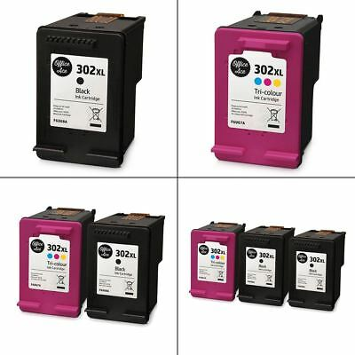 HP 302XL Black & Colour Ink Cartridges - Remanufactured For HP Printers • 19.95£