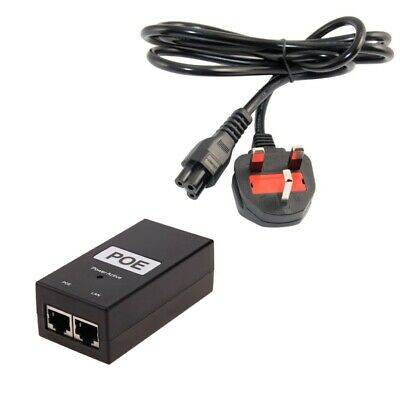 48V 0.5A 24W Gigabit POE Injector With Cord, Power Supply For IEE802.3af/at.POE • 12.91£