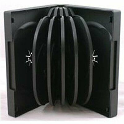 1 X 12-WAY NEW BLACK DVD CD DISC CASE MULTIWAY SLEEVE BLANK WALLET FIT 12 DISCS • 3.79£