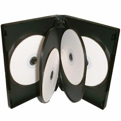 1 X 5 Way DVD Case Black 22mm Spine HIGH QUALITY Holds 5 Discs • 2.79£