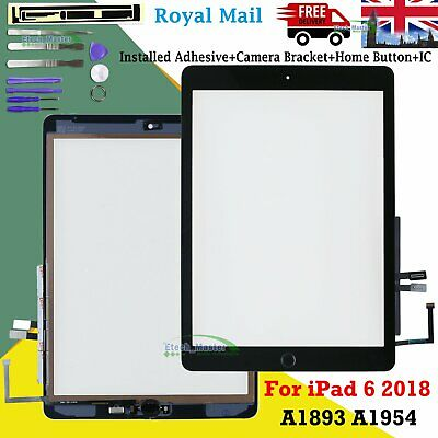 Black For 2018 IPad 6 A1893 A1954 Touch Screen Digitizer Replacement + IC Button • 11.28£