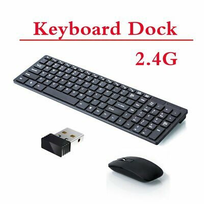 Slim 2.4GHz Cordless Wireless Keyboard And Mouse Set For PC MAC Laptop Tablet • 12.95£