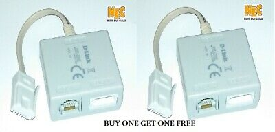 Hq, D-link Dsl-35mf Adsl Broadband Telephone Cable Micro Filter Splitter 1 Free • 2.25£