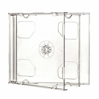 2 X Double CD Jewel Case With Transparent Case And Transparent Cd Tray • 3.09£